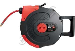 Air-20 Pro Series Air Hose Reel - Retractable 20 Metre x Ø9.5mm ID Hose Ø16mm OD Hose #58.1034