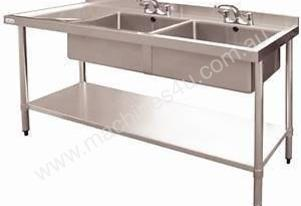 Stainless Steel Double Bowl Sink LH Drainer DN755