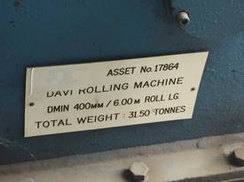 DAVI MCB-6045 Plate Rolls - picture7' - Click to enlarge