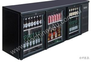 F.E.D. BC3100G Three Door BLACK MAGIC Bar Cooler