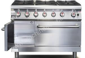 6 Burner Gas Stove / Cook Top with Oven (Natural G