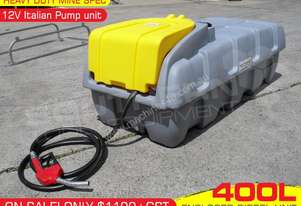 400L Diesel Fuel Tank / Storage Unit 12V pump