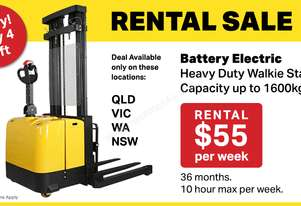 Heavy Duty Walkie Stacker Rental Special