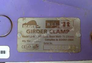 Girder Clamp 1 Ton Beaver Beam Chain Block Mount