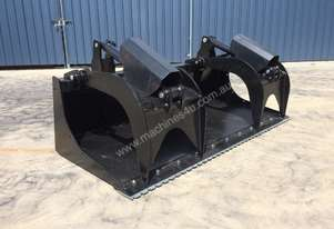 UNUSED SKID STEER 1830MM HYDRAULIC DEMOLITION GRAPPLE BUCKET