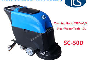 TCS NEW Commercial Auto Scrubber Floor Cleaner with Drier Battery 20 Inch Brush