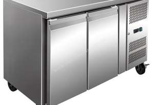 F.E.D. FE2100TN S/S Two Door Bench Fridge 260L