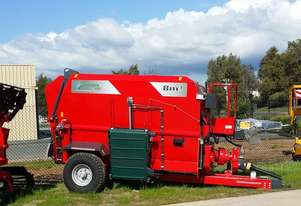 2020 MINOS AGRI TYYKM-8 HORIZONTAL FEED MIXER + DUAL ELEVATORS (8.0M3)