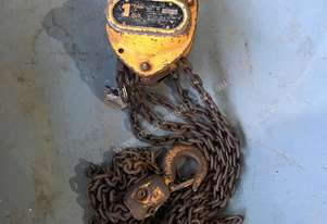 Chain Hoist Block and Tackle 1 ton x 3 mtr Drop PWB Anchor Lifting Crane PWB Anchor