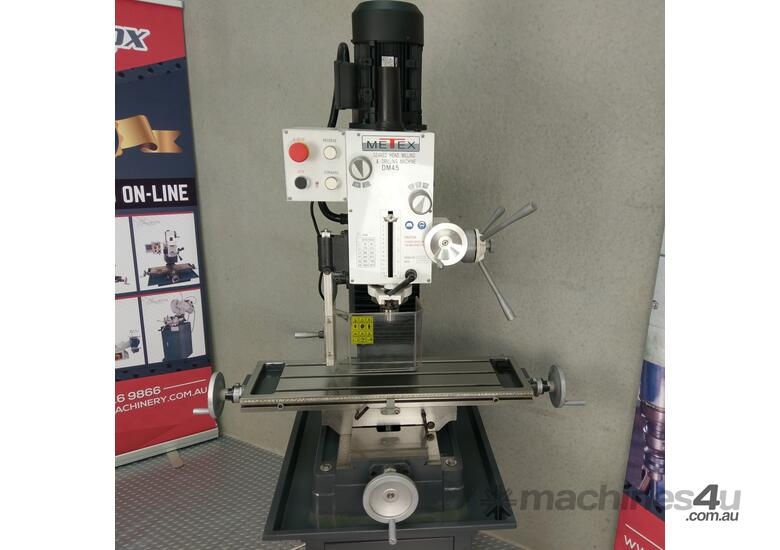 Geared Head Milling Machine Metex DM45 240v MT4 or R8