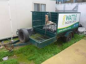 Single Axle 8x5 Box Top Trailer with Sides in Auction - picture0' - Click to enlarge