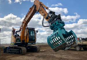 Rotating Sorting and Demolition Grab suits 10 - 16 Tonne Excavator