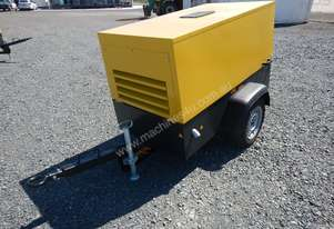 Unused 2018 Atlas Copco LUY050-7 180CFM Single Axle Compressor