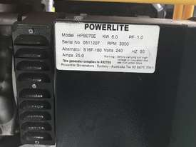 Powerlite 6 KVA Generator 13 HP Petrol Engine Portable Model HPB070E - picture3' - Click to enlarge