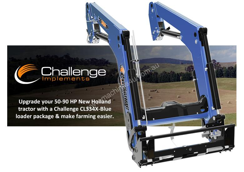 Challenge CL334X-Blue is the ideal front-end loader for your New Holland 50hp to 90hp agricultural