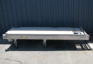 Stainless Motorised Chain Pallet Conveyor - 96cm wide 3m long