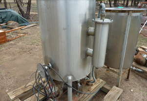 250litre STAINLESS STEEL FOOD GRADE MIXING VAT