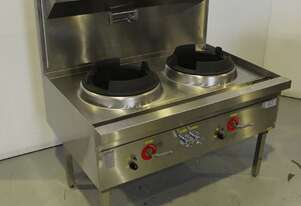 LKK LKK-2B  Waterless 2 Hole Wok Table