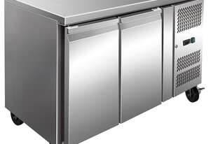 S/S Two Door Bench Freezer 260Ltr - 1360mm Width