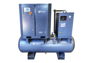5.5kW Screw Compressor with tank and dryer .85m3/min (30 cfm)