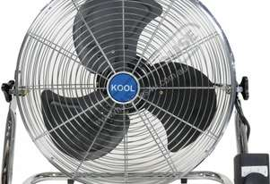 FD-45 Industrial Floor Fan - 450mm Fan swivels 140º inside frame 124 cubic M/min Air Flow
