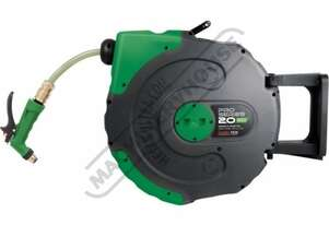 Water-20  Pro Series Retractable Water Hose Reel 20 Metre x Ø11.5mm Hose Ø16mm OD Hose #58.1045