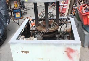 Heavy duty rotating machine base variable speed