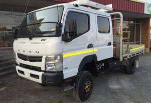 2013 Fuso Canter 4x4 Dual Cab Tray Truck