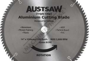 S165 Aluminium Cutting Blade - Carbide Tipped Ø350mm / 30mm Bore 100 teeth