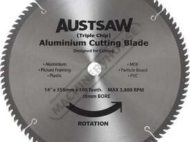 S165 Aluminium Cutting Blade - Carbide Tipped Ø350mm / 30mm Bore 100 teeth - picture0' - Click to enlarge