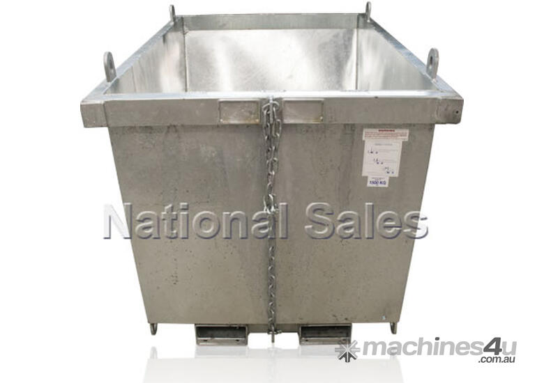 new or unknown crane bin 2 1m3 with fork pockets metal bins in perth