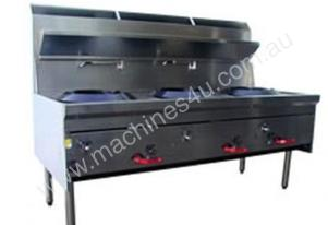 3W14R Chinese Waterless Wok Stove 3 Burn