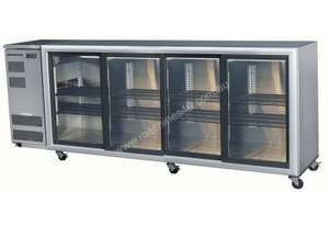 Skope BB780 4SW BackBar Series Four Swing Doors Bench Fridge - 2620mm