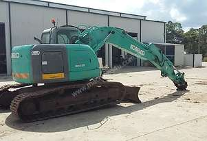 Kobelco Excavator SK200SR WITH BLADE!!! Quick Hitch Tilt Mud GP 1 OWNER FROM NEW