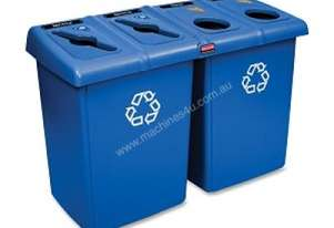 RUBBERMAID 256R-73 Glutton Recycling Station - 4 Stream