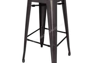 Bolero Black Steel Bistro High Stool (Pack 4)