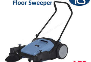 TCS NEW Manual Walk-Behind Hard Floor Sweeper Machine with Foldable Handle Bars