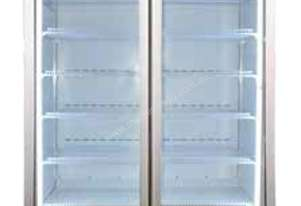Bromic GM1000LCASW - Flat Glass Door 1000L LED Display Chiller with Gassette - White color