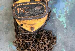 Chain Hoist Block and Tackle 1.5 ton x 3 mtr Drop PWB Anchor Lifting Crane PWB Anchor