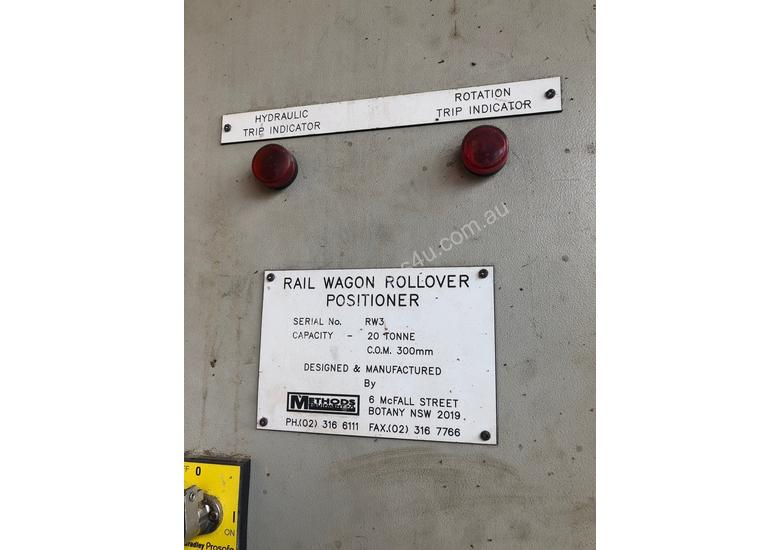 Methods 20 Ton Headstock & Tail Stock ( Rail Wagon Rollover Positioner)