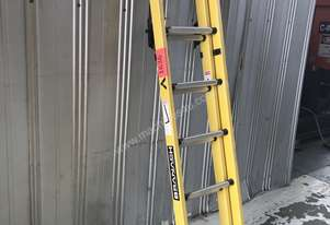 Branach Fiberglass & Aluminum Extension Ladder 2.1 to 3.3 Meter Industrial Quality