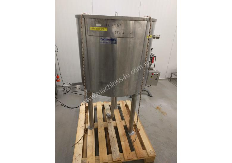 Jacketed Stainless Steel Tank 250 litre with lid