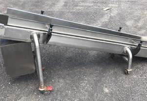 Incline belt conveyor