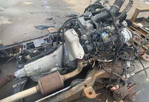 2000 CHEVROLET 3500 VAN FRONT CUT OFF ENGINE & TRANS