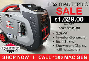 3.0kVA Briggs & Stratton Inverter Generator Display Unit