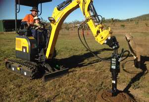 Zero Swing Mini Excavator and Digga Auger Package