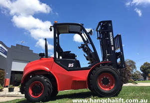 Brand New Hangcha 3.5 Ton 4-Wheel Drive Rough Terrain Forklift
