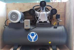 PISTON AIR COMPRESSOR 900L/min 34CFM 200L RECEIVER Three 5.5KW/7.5HP