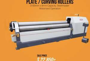 Heavy Duty 3100mm x 8mm Plate Curbing Roller with Stub Extensions