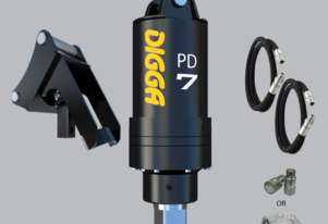 Digga PD7 auger drive With Hoses, Couplers and Cradle Hitch